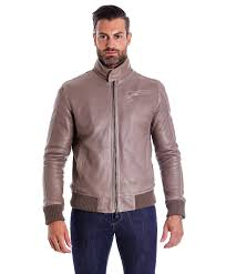 Light Grey Color by Men U0027s Leather Jacket Genuine Soft Leather Style Bomber Bicolor