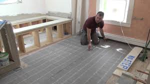 Floor Up by Remodeling A Bathroom Part 10 Electric Radiant Floor Heat Youtube