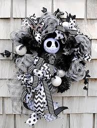 nightmare before christmas ribbon nightmare before christmas wreath skellington wreath black