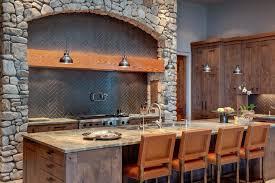 rock kitchen backsplash stone interior decoration ideas small