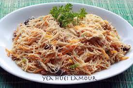 recette de vermicelles de riz sautées