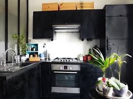cuisine repeinte en noir cuisine repeinte en noir brillant cuisine repeinte en noir idées