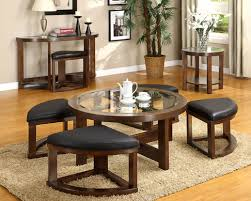 wedge shaped end table cm4321 coffee table w 4 wedge shaped ottomans crystal cove ii