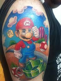 amazing mario tattoo on under foot