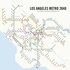 Metro Redline Map Potential 2040 La Subway System Map Losangeles