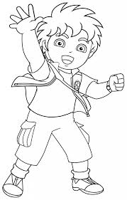 dora coloring pages for toddlers awesome diego free coloring pages printable colouring pages