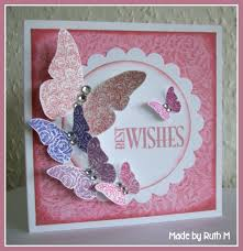 flower sparkle butterfly best wishes birthday card