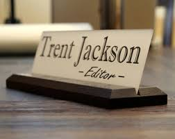 Desk Name Plates Wood Acrylic Teacher Desk Name Plate With Wood Plaque Personalized