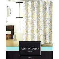 Cynthia Rowley Drapery Amazon Com Cynthia Rowley Emma Medallion Damask Shower Curtain In