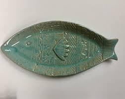 ceramic fish platter ceramic fish dish etsy
