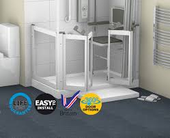 Disabled Half Height Shower Doors Contour Showers Uk Specialists In Disabled Showers Front