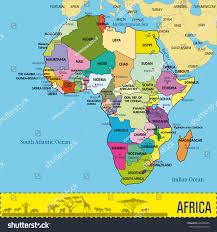 africa map all countries highly detailed africa map all countries stock vector 624606662