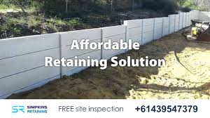 Recon Retaining Wall by Perth Retaining Walls 61439547379 Youtube