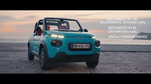 citroen electric citroën e mehari a 100 electric car youtube