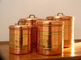copper canisters kitchen four copper and brass canisters to complete your copper kitchen