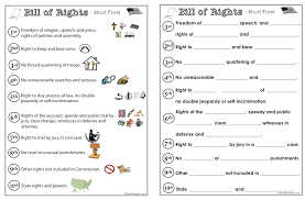 Bill Of Rights Worksheet Answers Bill Of Rights The Wise Nest