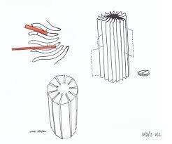 objet bureau starfish porte lettre par le studio kutarq sketches