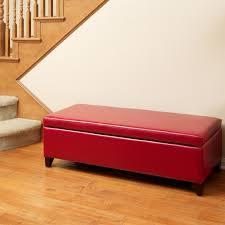 red storage ottoman bench home design ideas