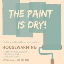housewarming party invitations paint housewarming party invitation templates by canva