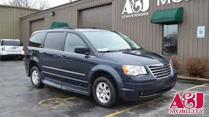 wheelchair van for sale 2009 chrysler town and country stock