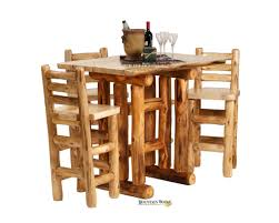 rustic log dining room tables handcrafted rustic aspen log furniture and pine log furniture for