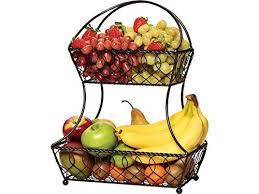 metal fruit basket 885991141662 gourmet basics by mikasa lattice 2 tier metal fruit
