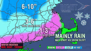 Boston Snow Total Map by Updated Snow Accumulation Map Monday Night Into Tuesday Right