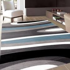 Modern Blue Rug Contemporary Modern Boxes Blue Grey Area Rug 7 U002710 X 10 U00272 Free
