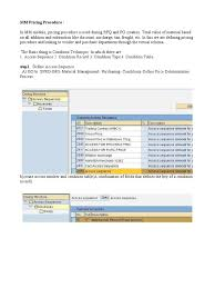 pricing procedure in sap mm