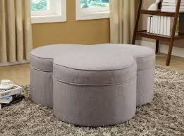 homelegance limerick storage ottoman with casters grey linen