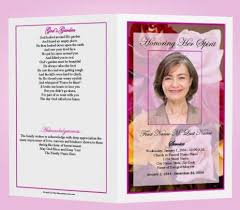 how to make funeral programs 64 best memorial legacy program templates images on