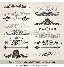 Decorative Line Clip Art Vector Clipart Of Vintage Decorative Elements The Vector Image
