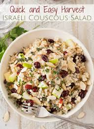 israeli couscous harvest salad the chunky chef