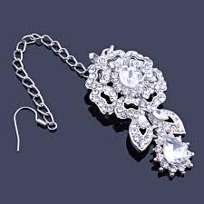 wedding necklace bride images Farlena wedding jewelry clear crystal rhinestones necklace jpg