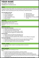science resume template career development esu