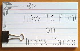 printable index cards maker how to print on index cards and post it notes darla g denton