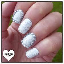 easy nail art glitter glitter and rhinestone nail art design nailsxo
