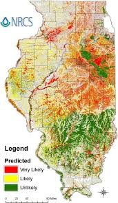 Illinois District Map by Drainage Tile History In The U S Bioreactors Water Table