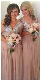 beautiful bridesmaid dresses champagne metallic gold bouquet