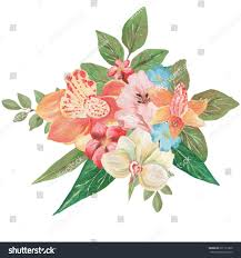 bouquet of lilies bouquet lilies delphinium azalea can be stock illustration