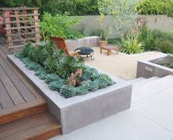 concrete planters 33 best built in planter ideas and designs for 2017