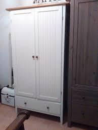 ikea visdalen white country farmhouse style panelled wardrobe