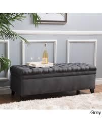 Grey Fabric Storage Ottoman Shopping Deals On Oliver Sofia Fabric Storage