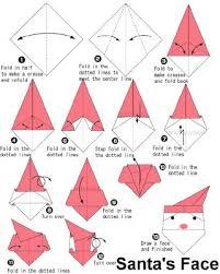 How To Make A Origami Santa - santa origami handicrafts paper origami santa