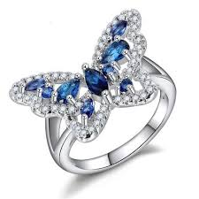 blue butterfly rings images Butterfly luxury suicide awareness ring aspire gear jpg