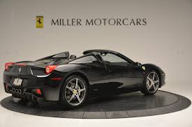all black ferrari 2012 ferrari 458 spider stock f1720a for sale near westport ct