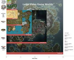World Map To Scale by Largest Video Game Worlds To Scale Gaming