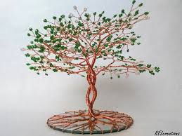 infinity beaded copper wire tree on mirror by arielgasca on deviantart