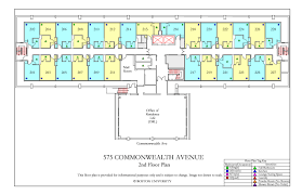 Powder Room Layouts 575 Commonwealth Ave Floor Plan Housing Boston University