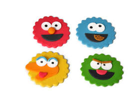elmo cake topper fondant sesame cupcake toppers2 edible elmo big bird